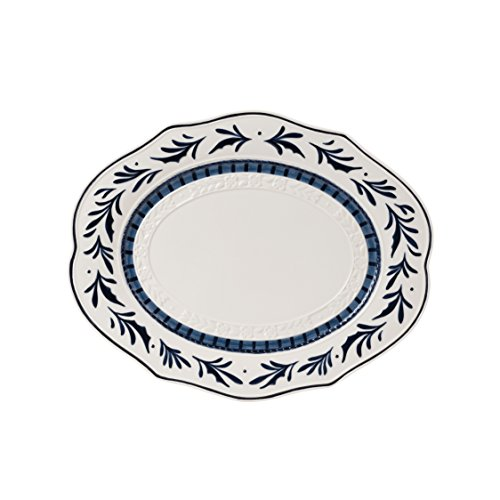 Blue White Platters - Bristol Collection, Serving Platter, Royal Blue/White