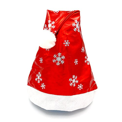 GREFER Christmas Santa Claus Hats Classic Red Cap Adult Xmas Party (Red)