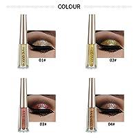 FGVBHTR Metallic Smoky Glitter Liquid Eyeliner Eyeshadow Sparkle Eyeliner Pen (01