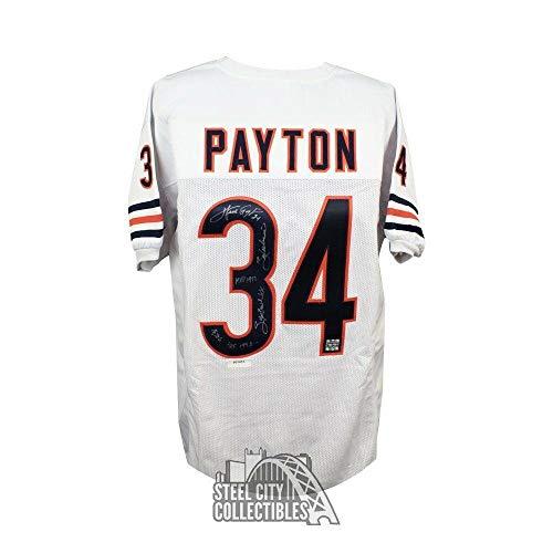 (Walter Payton Autographed Jersey - White LOA - PSA/DNA Certified - Autographed NFL Jerseys)