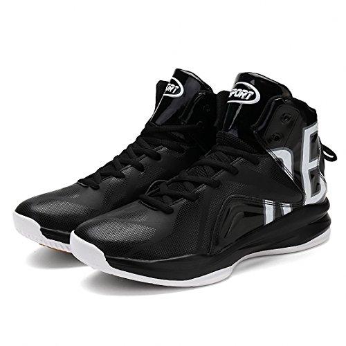 Weweya Herren Basketball Schuhe Sneakers Ausbildung Outdoor Turnschuhe FSchwarz