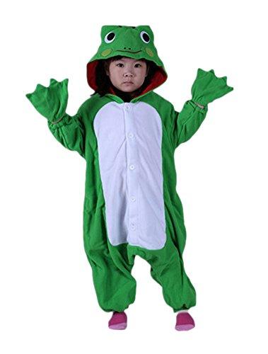 (Lava-ring Unisex Cosplay Pajamas Onesie Frog Costume(95#))