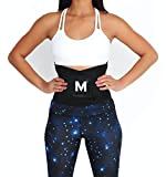Melted Fitness Women's Waist Trainer Belt - Body Shaper for an Hourglass Figure (Medium, Onyx)