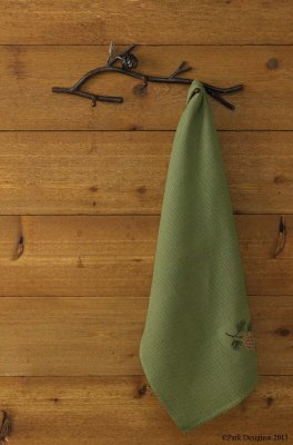 Park Designs Pine Lodge Pine Cone Branch Triple Peg Towel Key - Design Pinecone