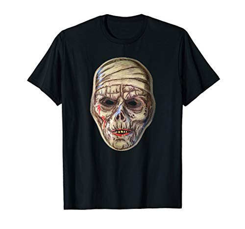 Vintage Mummy Halloween Mask Trick or Treat Gift T-Shirt ()