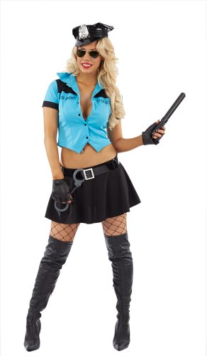 Police Officer American Cop Uniform Female Fancy Dress Costume - XL (US (Female Cop Costume Uk)