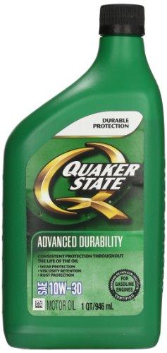 Quaker State (550035170-6PK) Advanced Durability SAE 10W-30 Motor Oil API GF-5 - 1 Quart, (Pack of 6) ()
