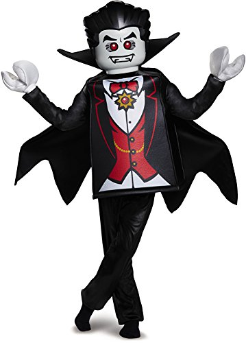 Disguise Lego Vampire Deluxe Costume, Black, Medium (7-8) -