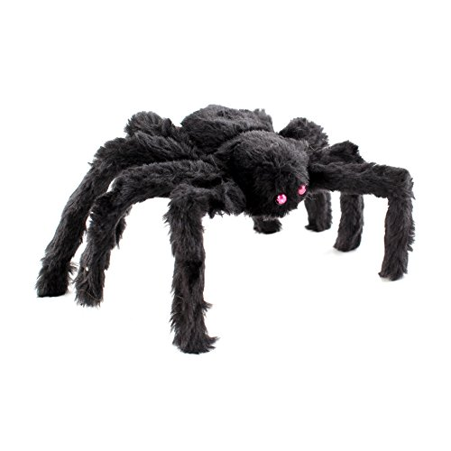 IDS Home Halloween Black Realistic Bendable Plush Spider Toys Scary Decorations Party Favor, 30CM Large ()