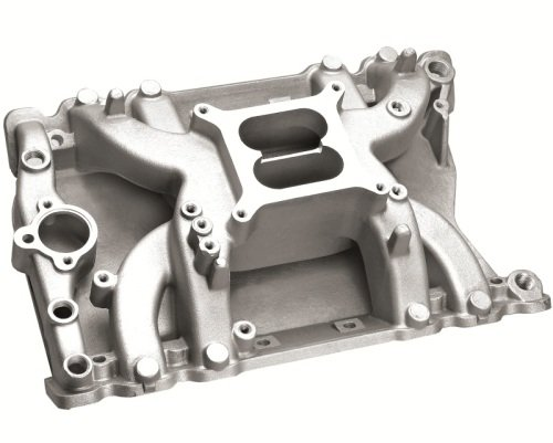 Professional Products 57026 Crosswind Satin Manifold for Oldsmobile 400-455 - Crosswind Manifold Satin
