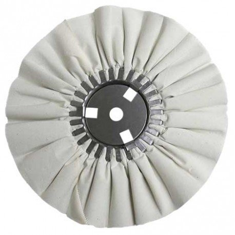 Zephyr AWW 58-10 SS White Blue Finishing Wheel