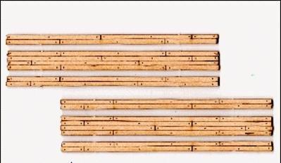 Scale Wood Grade Crossing - HOn3 Scale Wood Grade Crossing pkg(2) -- Two Lane 3-9/16