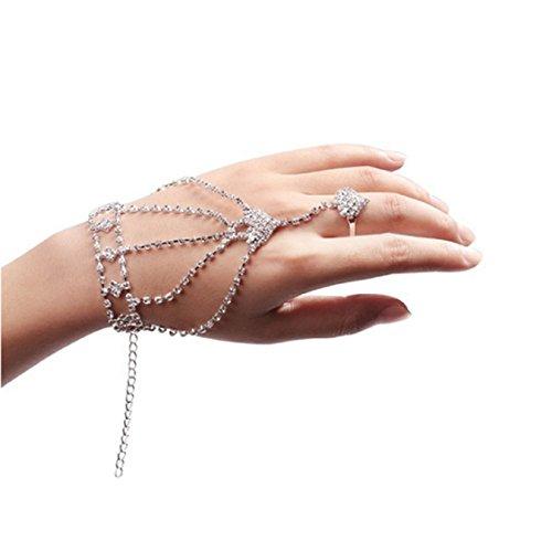Ikevan Fashion Rhinestone Harness Bracelet