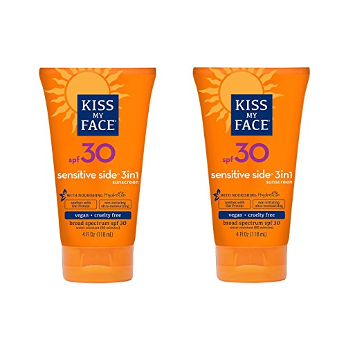 Kiss My Face Sensitive Oat Protein Spf30, 4 Ounce, 2 Count - Oat Protein Sunscreen