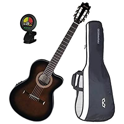 IbanezGA35TCEDVS Thinline Acoustic-Electric Classical GuitarDark Violin Burstw/ Gig Bag and Tuner!