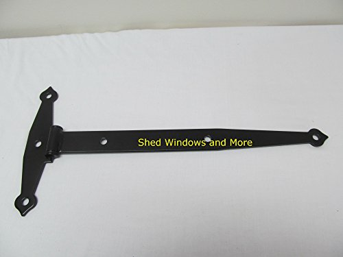 Super Heavy Duty 20'' Strap Hinge Barn Hinge Storage Shed Hinge Horse Stall Hinge (set of 6) by Shed Windows and More