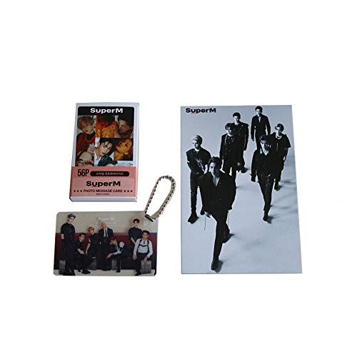 SuperM K-pop Mini Photo Cards (56) Post Card and (1) Key Ring (1) Se