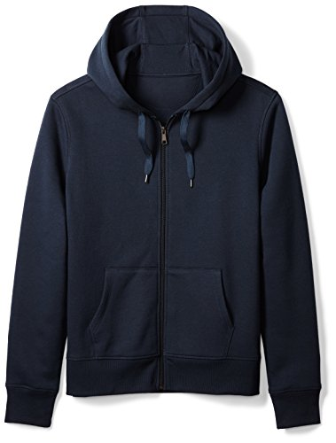 Amazon Essentials Men's Full-Zip Hooded Fleece Sweatshirt, Navy, (Fleece Full Zip Hood Sweatshirt)