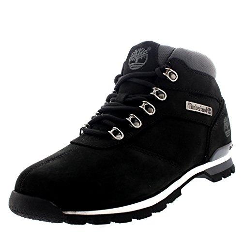 (Timberland Mens Splitrock 2 Hiker Leather Hiking Black Ankle Boots - Black - 8.5)