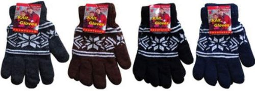 Ddi Knitted Snow Flake Gloves (pack Of 144)