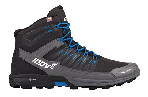 Inov-8 Roclite 335 - Insulated Hiking Boots for Snow, Winter - Lightweight - Vegan - Mid Boot Fit - Black/Blue M8/ W9.5
