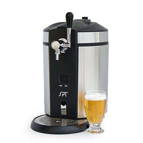 Draft Beer Dispenser Mini Kegerator Countertop Portable Keg LED Stainless Kitchen Bar Entertainment