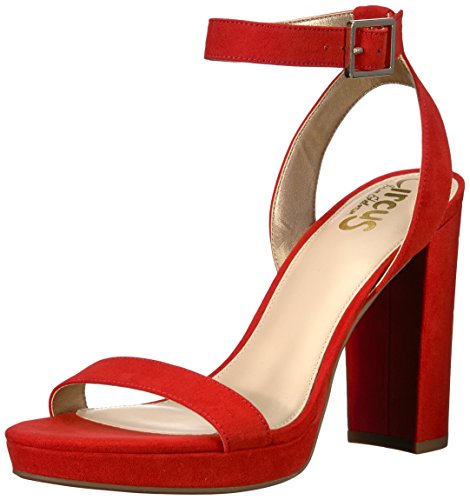 Circus by Sam Edelman Women's Annette Heeled Sandal, Candy red, 7 Medium US ()