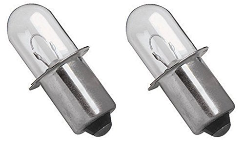 (2) RYOBI 18 VOLT Flashlight Replacement Xenon Bulb / 18v ONE+ Cordless (Ryobi 18 Volt Flashlight Bulb)