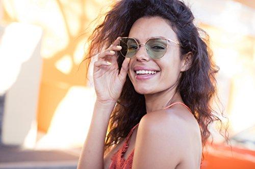 chat UV400 soleil faite métal yeux de de Cheapass Style Femmes Monture Rondes Or4 de Lunettes zgzSFqwn8