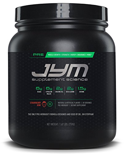 Pre Training (JYM Supplement Science, PRE JYM, Pre-Workout with BCAA's, Creatine HCI, Citrulline Malate, Beta-alanine, Betaine, Alpha-GPC, Beet Root Extract and more, Kiwi Strawberry, 30 Servings)