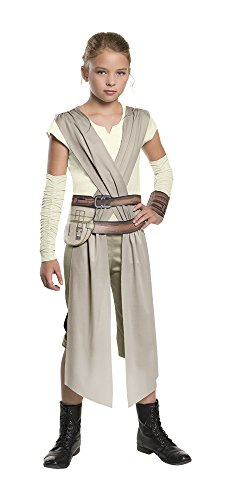 Star Wars: The Force Awakens Child's Rey Costume, Medium (Fun Group Costumes)
