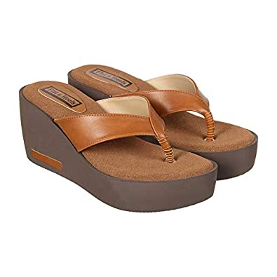 499fed33 Flat n Heels Womens Tan Wedges FnH 4302-TAN: Buy Online at Low Prices in  India - Amazon.in