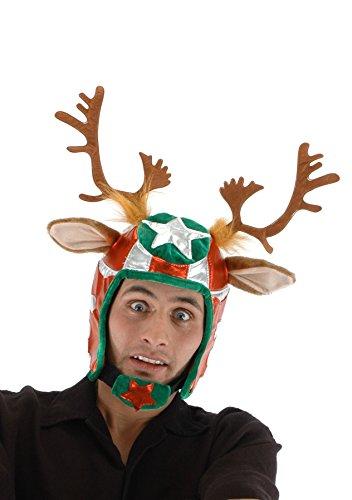 elope Racing Reindeer Helmet Hat Racing Reindeer