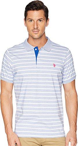 Stripe Shirt Classic Mens (U.S. Polo Assn.. Men's Classic Fit Stripe Short Sleeve Jersey Polo Shirt, Blue Raft-8302, XX-Large)