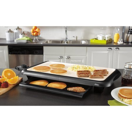 Oster CKSTGRFM18W-ECO DuraCeramic Griddle, Black