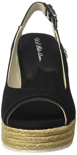 Ouvert Femme Topazia polo Sandales Blk Noir Linen Bout black Assn U s Utwq80Z
