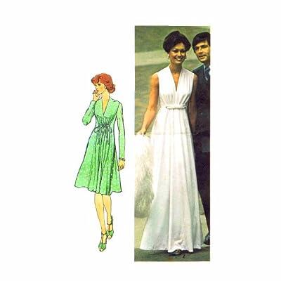 Amazon.com: 1970s Grecian Goddess Evening Dress Simplicity 6672 ...