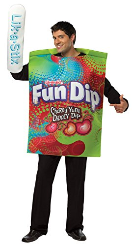 UHC Men's Comical Fun Dip Candy Theme Party Adult Halloween Costume, STD (Mens Fun Dip Costumes)