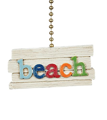 Beach Sign Decorative Ceiling Fan Light Dimensional Pull