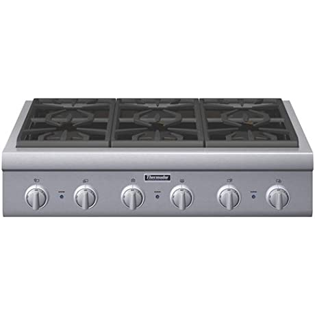 Thermador Professional Series PCG366G 36 Pro Style Gas Rangetop 6 Pedestal Star Burners