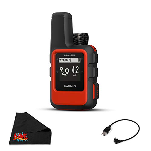 Garmin inReach Mini - Lightweight and Compact Satellite Communicator, Orange, 010-01879-00