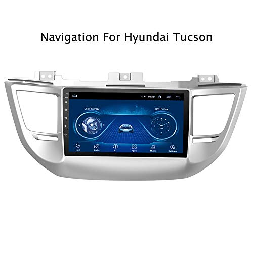 HWENJ 9 Inch Android 8.1 for Hyundai Tucson 2015-2018 Track-Mage Auto Vehicle Car Multimedia GPS Navigation System, Sat Nav for Cars (Best Truck Sat Nav App)