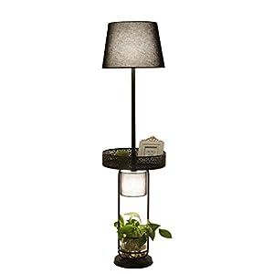 Lámpara de mesa NORDIC Retro Hierro decorativos lámpara de pie Creative lámpara de mesa uso salón dormitorio de cama lo Studio café bar (E2731–40W)