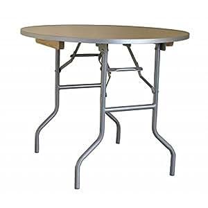 Amazon Com Folding Table Heavy Duty Three Foot Round