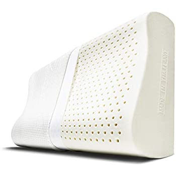 Amazon Com Cheer Collection Contoured Latex Pillow Eco