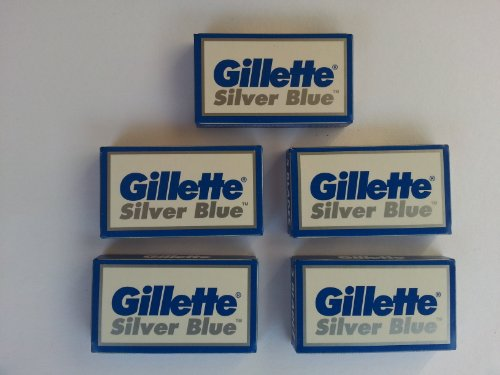 25 Silver Blue Double Edge Razor Blades Made in Russia by 7 O'clock