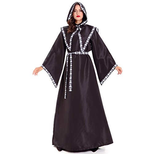 [Slocyclub Women's Medieval Hooded Robe Vampire Costume Dress (onesize, black)] (1950s Nurse Costumes)