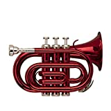 Stagg WS - TR247S Bb Red Pocket Trumpet with Case