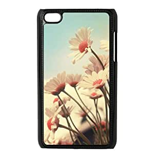 T-TGL(RQ) Ipod Touch 4 High-Quality Phone Case Daisy with Hard Shell Protection