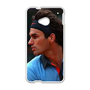 Happy Rafael Nadal White Phone Case for HTC One M7